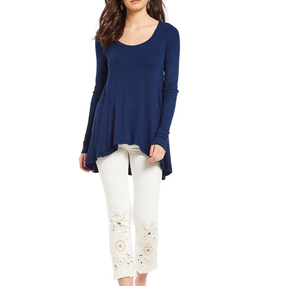 We the Free Free People January Tee Navy Blue size XS NEW NWT